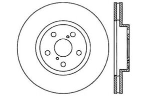 Disc Brake Rotor Front Centric 121.44069 fits 91-95 Toyota