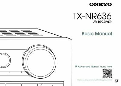 Onkyo TX-NR636 Tuner Owners Manual FREE SHIPPING PRINTED