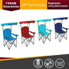 Folding Canopy Chair Walmart Butterfly Alpha Camp 350 Lbs Heavy Duty Shade Camping Image Is Loading