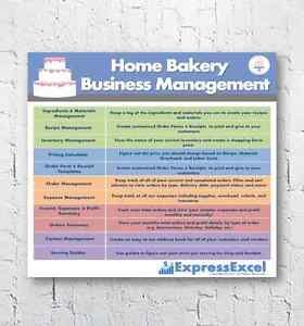 Home Bakery Business Management Excel Software Spreadsheet + Pricing ...