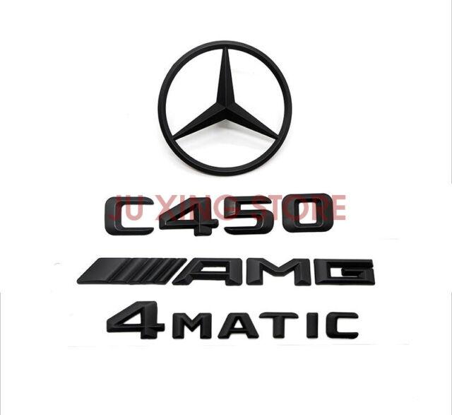 Mercedes-Benz C-Class W204 MATTE BLACK Badge Emblem C450