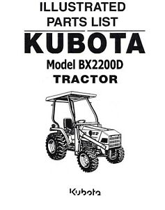 Kubota BX2200 Tractor Illustrated Parts Manual BX2200D on
