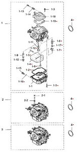 3F3871221M Nissan & Tohatsu Marine Carburetor Repair Kit