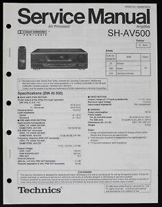 Technics SH-AV500 Original Amplifier Service Manual