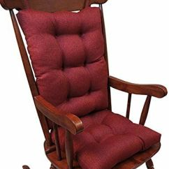 2 Piece Rocking Chair Cushions Ikea Childrens Table And Chairs Klear Vu Omega Cushion Flame Ebay