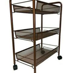 Wire Kitchen Cart Unfinished Cabinets Bonbon 3 Tier Mesh Rolling For Serving Utility Image Is Loading