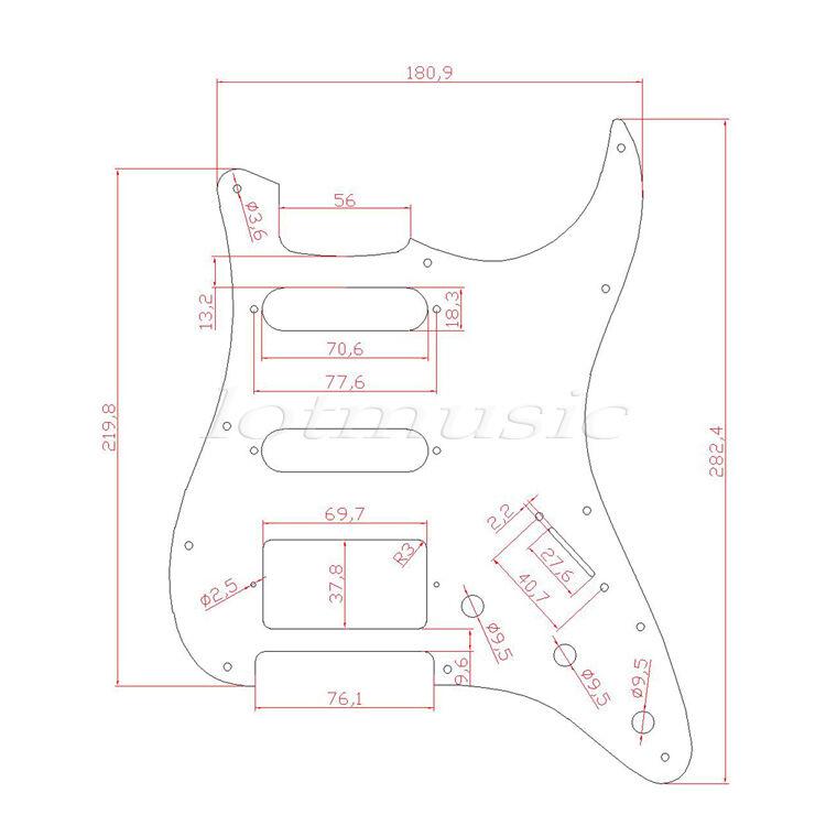 2 Pcs Guitar Pickguard Scratch Plate For Fender Strat Dark