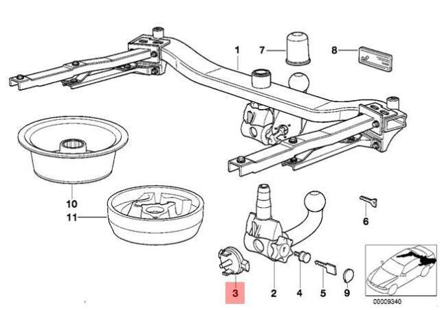 Genuine BMW E30 E31 E34 E36 E39 E46 Sealing Blind Plug D