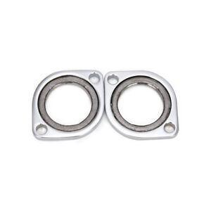 Chrome Exhaust Oval Flange Repair Pipe Kit Gasket For Dyna