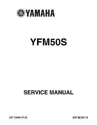 Yamaha ATV service workshop manual 2004 YFM50, YFM50S
