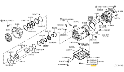 OEM Nissan Infiniti automatic transmission overflow/fill