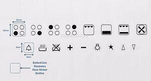 4 Hob + Symbols Stove Cooktop Adhesive Oven Sticker Label