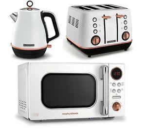 details about rose gold kitchen set morphy richards microwave jug kettle 4 slice toaster