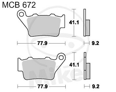 TRW Lucas Brake Pads MCB672SI Rear Yamaha XT 660 za Tenere