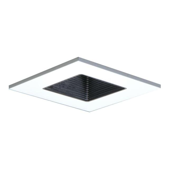 halo recessed 3012whbb 3 inch 15 degree trim lensed square shower light with