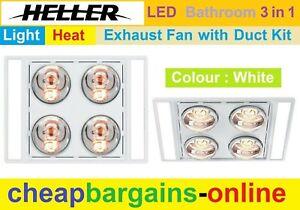 https www ebay com au itm heller 3 in 1 ceiling bathroom exhaust fan heater led light 4 heat globes silver 263042498241