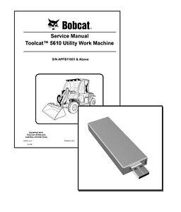Bobcat Toolcat 5610 Utility Work Machine Workshop Service