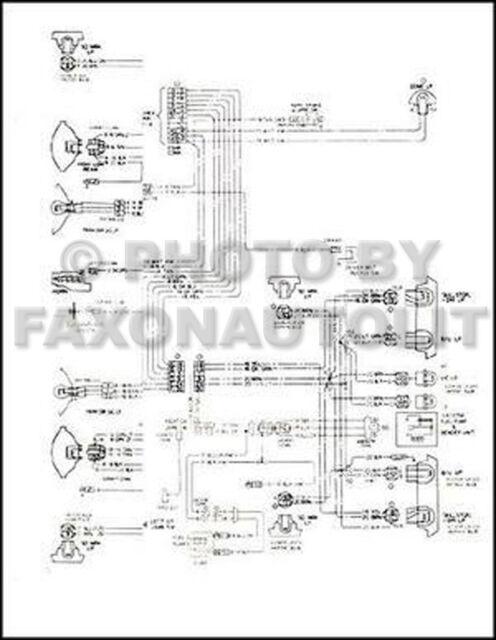 1980 Camaro Foldout Wiring Diagram Original 80 Berlinetta