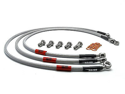 Honda CBR1000RR Fireblade ABS Wezmoto Stainless Braided