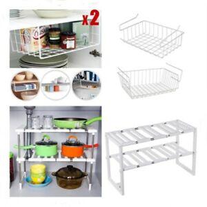 Under Sink Shelf Storage Rack Bathroom Kitchen Cupboard Organiser Cabinet Holder Ebay