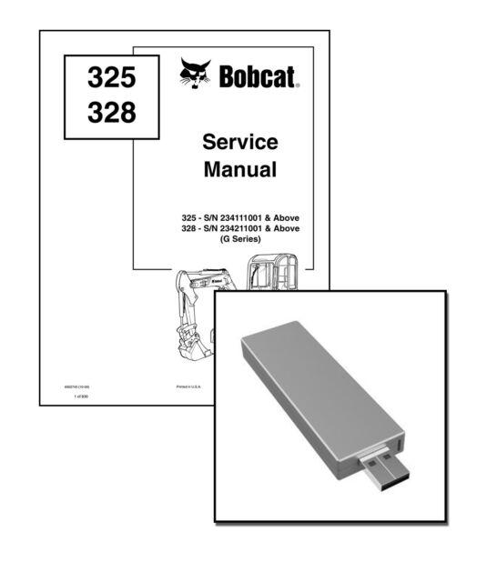 Bobcat 325 328 G-Series Excavators Repair Service Manual
