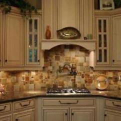 Travertine Kitchen Backsplash Gold Faucet Slate Mosaic Random Tile Free Priority Image Is Loading