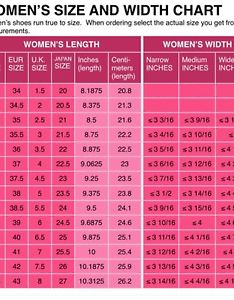 Image is loading womens shoe size conversion chart us uk eu also  japanese printed rh ebay