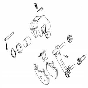 Brake Caliper Rebuild Kit For 1997 Yamaha XVZ1300AT Royal