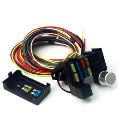12v 10 circuit basic wire harness fuse box street hot rat rod wiring car truck [ 900 x 900 Pixel ]