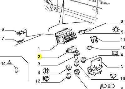 FIAT PANDA MK2 PROIETTORE DIM DIP RESISTORE 7587494 BRAND