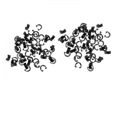 100pc Bicycle Cycle MTB C-Clips Clamp Buckle Hose Brake