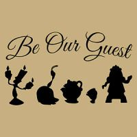 BE OUR GUEST BEAUTY AND BEAST CRAFT VINYL GLASS WALL ...