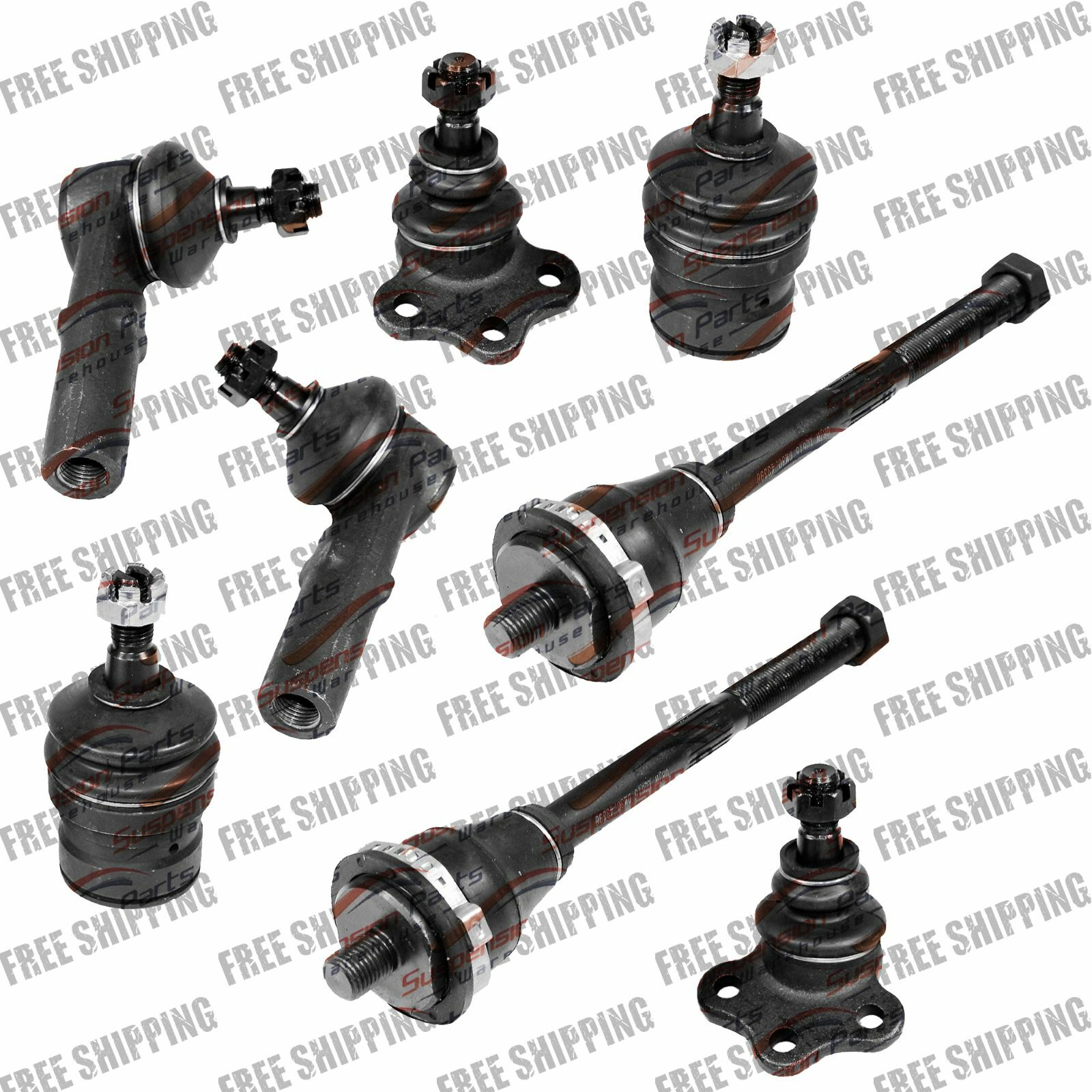 Front Kit Suspension Ball Joint Tie Rod Linkages For 4wd