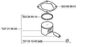 OEM GENUINE PISTON kit assembly HUSQVARNA 357xp 357 xp epa