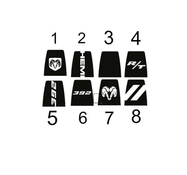 Custom Hood Decals for Dodge Charger GT R/T SRT Daytona