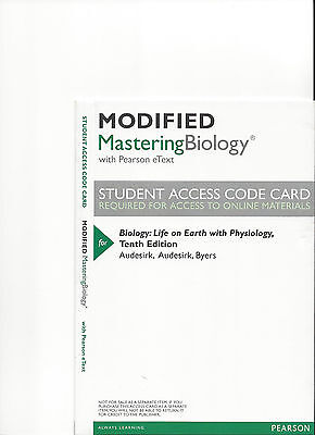 MODIFIED MASTERING BIOLOGY 10TH ED AUDESIRK ACCESS CODE