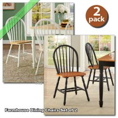 Farmhouse Dining Chairs Folding Chair In Chennai Room Set Of 2 Wood Country Kitchen Windsor