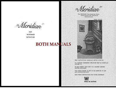 The Meridian MSI-83 Wood Stove Manual USER Guide