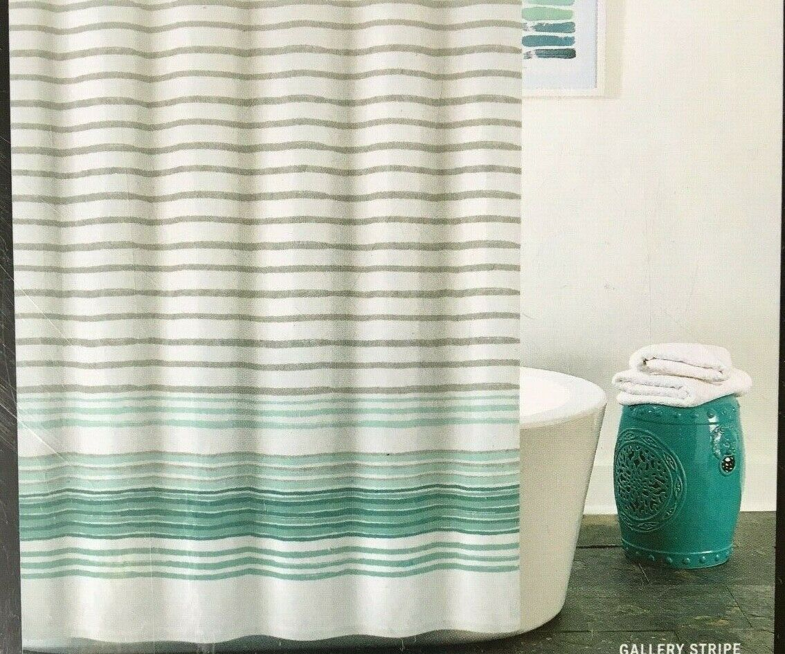 Dkny Gallery Stripe Shower Curtain Ombre Hooks Aqua Stripes 72 X 72