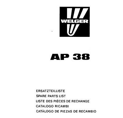 Welger AP38 Baler Parts Manual (PDF file) SPARE PARTS LIST