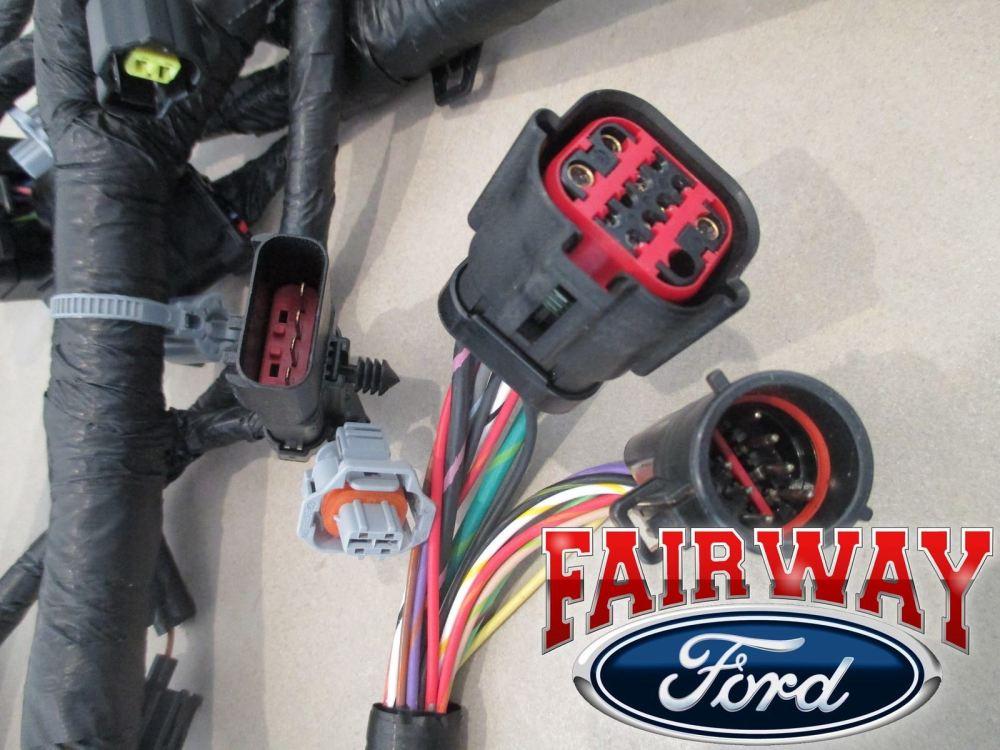 medium resolution of 04 ford f250 f350 super duty 04 05 excursion 6 0l diesel engine wire harness oem for sale online ebay