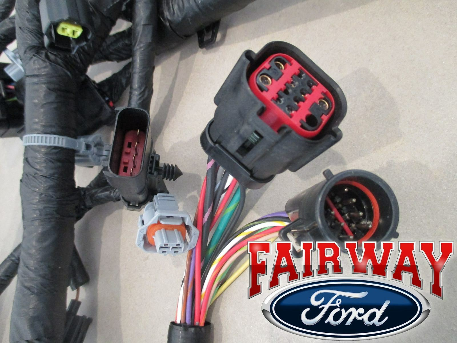 hight resolution of 04 ford f250 f350 super duty 04 05 excursion 6 0l diesel engine wire harness oem for sale online ebay