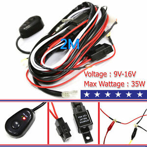 halogen work light wiring diagram balloon framing harness kit line 40a 12v switch relay for 2 led image is loading