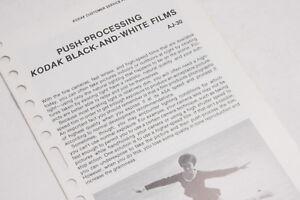 Kodak Push Processing Black White Films AJ-30 1977 Guide