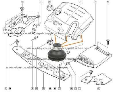 Engine Cover Clip 1piece For Renault Clio Megane Modus