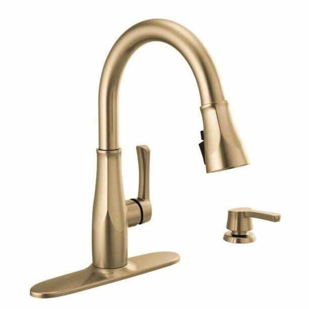 delta owendale single handle pull down sprayer kitchen faucet with shieldspray