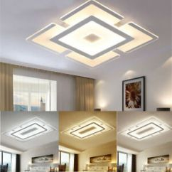 Led Ceiling Light Living Room Small Feature Wall Ideas Modern Elegant Square Acrylic Bedroom Image Is Loading