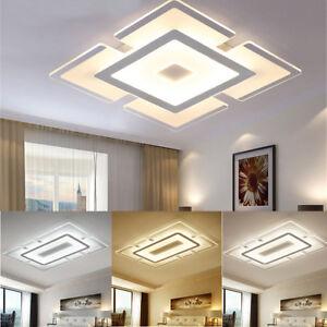 led lighting for living room light modern elegant square acrylic ceiling bedroom image is loading