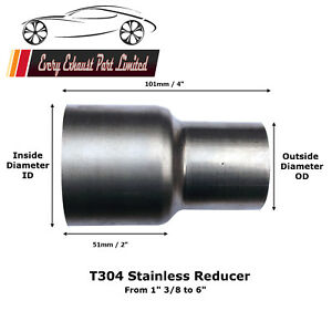 details about all size exhaust reducer sleeve pipe swaged adapter flared connector flange tube