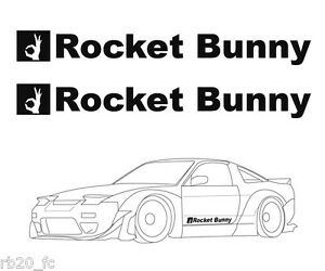2PCS ROCKET BUNNY Decal For FT86 86 FRS BRZ 240SX 200SX